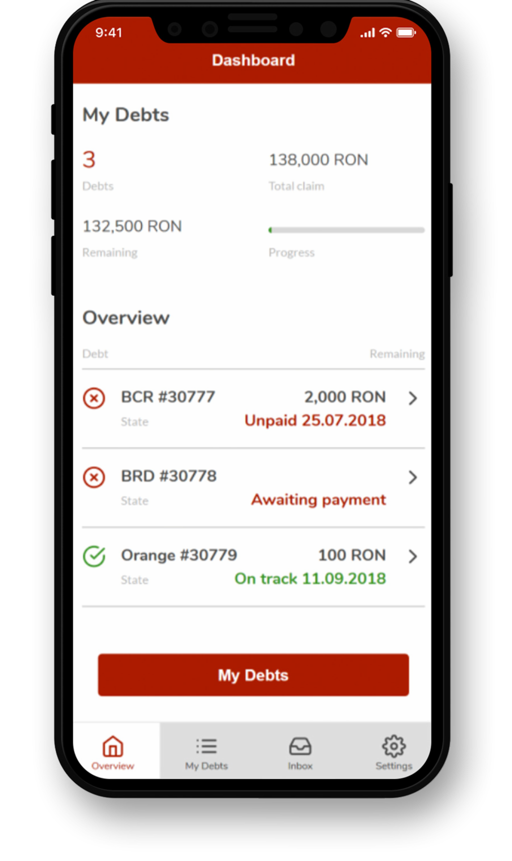 EOS mobile debt collection